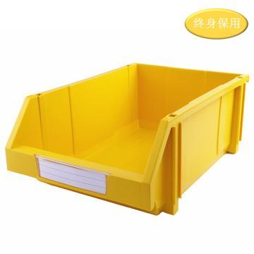 Raxwell 組立背掛零件盒 物料盒,外尺寸規格D*W*H(mm):450×300×177,全新料,黃色,單位:個