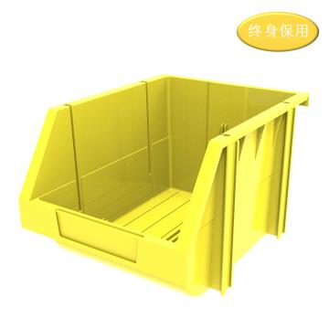 Raxwell 組立背掛零件盒 物料盒,外尺寸規格D*W*H(mm):280×214×175,全新料,黃色,單位:個
