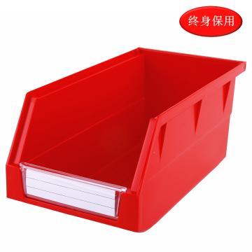 Raxwell 背掛零件盒 物料盒,外尺寸規格D*W*H(mm):270×140×125,全新料,紅色,單位:個