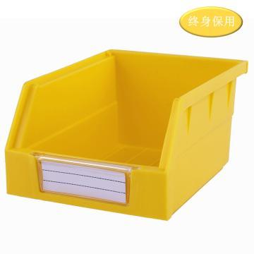 Raxwell 背掛零件盒 物料盒,外尺寸規格D*W*H(mm):140×105×75,全新料,黃色,單位:個
