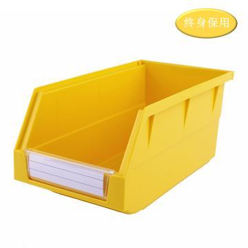 Raxwell 背掛零件盒 物料盒,外尺寸規格D*W*H(mm):270×140×125,全新料,黃色,單位:個