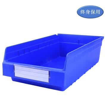 Raxwell 精益零件盒 物料盒,外尺寸规格D*W*H(mm):500×300×150,全新料,蓝色,单位:个
