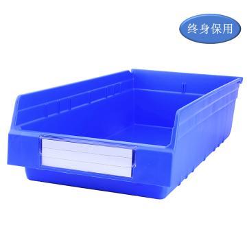 Raxwell 精益零件盒 物料盒,外尺寸規格D*W*H(mm):600×300×150,全新料,藍色,單位:個