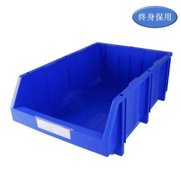Raxwell 组立背挂零件盒 物料盒,外尺寸规格D*W*H(mm):600×400×220,全新料,蓝色,4个/箱