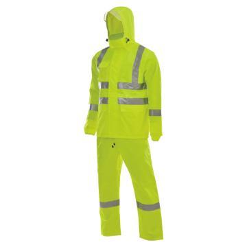 安大叔 反光雨衣,D763/C890-XXL,,PU涂层 荧光黄