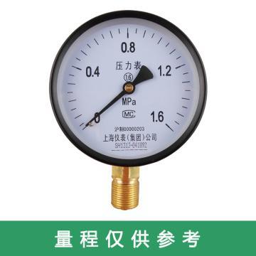 上仪 压力表Y-150,碳钢+铜,径向不带边,Φ150,-0.1~1.5MPa,M20*1.5