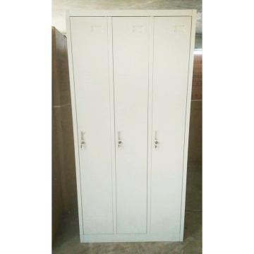 哈亚峰 三门更衣柜,钢板厚度0.8mm,900mm宽*500mm深*1850mm高 灰白色
