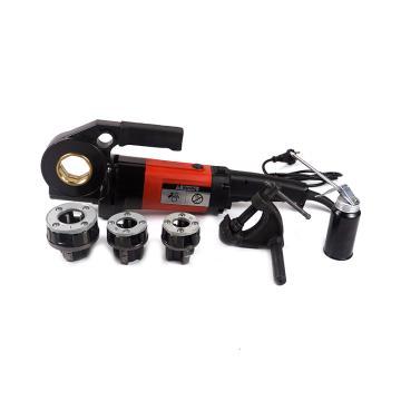 虎王 電動手持套絲機輕型1寸車絲機鋼管水管消防管鍍鋅管 手持式,SQ25(1寸機)