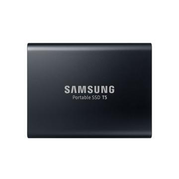 三星固態硬盤,2TB Type-c USB3.1(PSSD)T5 MU-PA2T0B/CN 最大傳輸速度540MB/s 安全便攜 黑色