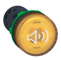 施耐德Schneider 進口 XB5 ?22塑料按鈕,帶燈蜂鳴器 黃色 AC 110V,XB5KS2G8