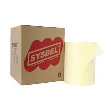 西斯贝尔SYSBEL 防化类吸附棉卷,38.1mm×45.72m,SCR001,1卷/箱
