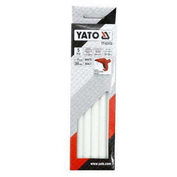 易尔拓YATO 白色热熔胶棒,5件套 11.2x200mm,YT-82438