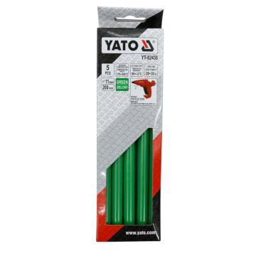 易尔拓YATO 绿色热熔胶棒,5件套 11.2x200mm,YT-82436