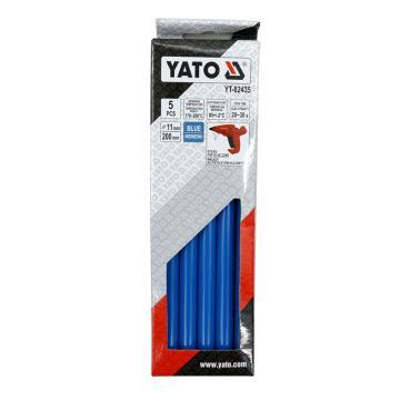 易尔拓YATO 蓝色热熔胶棒,5件套 11.2x200mm,YT-82435