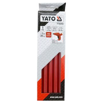易尔拓YATO 红色热熔胶棒,5件套 11.2x200mm,YT-82434