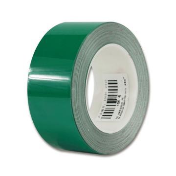 安赛瑞 耐磨型划线胶带,高性能自粘性PP表面覆超强保护膜,50mm×22m,绿色,15646