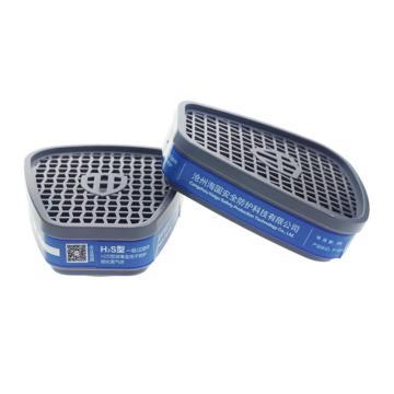 海固 HG-ABS-H2S型8号滤毒盒,P-H2S-1,硫化氢滤毒盒,2个/对