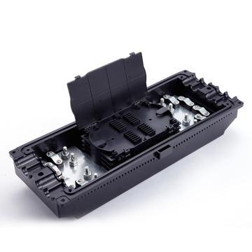海乐Haile 4进4出卧式光纤接头盒,黑色,HT-JX-4