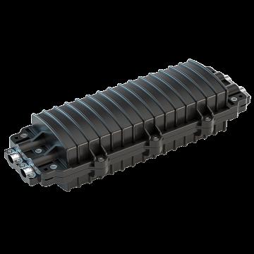 海乐 光纤接头盒防水黑色,HT-JX-2