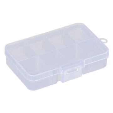 西域推荐 零件盒收纳盒,8格可拆分,外形尺寸:106*67*24mm,内格尺寸:30.5*25mm