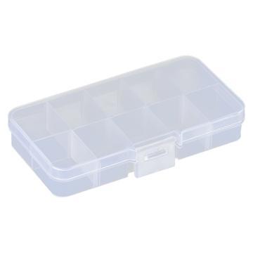 西域推荐 零件盒收纳盒,10格可拆分,外形尺寸:125*68*21mm,内格尺寸:31*25mm