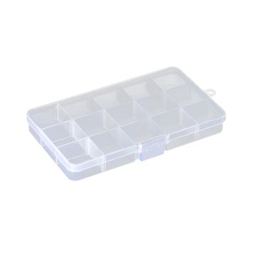 西域推荐 零件盒收纳盒,15格可拆分,外形尺寸:170*95*22mm,内格尺寸:34*31mm