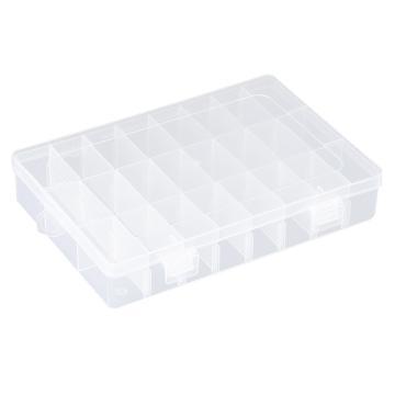 西域推荐 零件盒收纳盒,24格可拆分,外形尺寸:190*128*35mm,内格尺寸:42*22mm