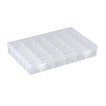 西域推荐 零件盒收纳盒,36格可拆分,外形尺寸:270*170*41mm,内格尺寸:42*28mm