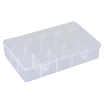 西域推荐 零件盒收纳盒,大号15格可拆分,外形尺寸:277*168*58mm,内格尺寸:55*52mm