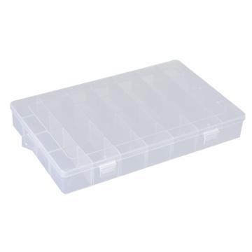 西域推荐 零件盒收纳盒,大号28格可拆分,外形尺寸:345*215*48mm,内格尺寸:54*50mm