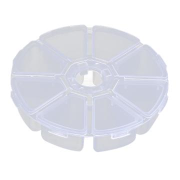西域推荐 零件盒收纳盒,8号圆形零件盒,直径100mm
