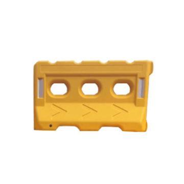 三孔水马,上宽160mm,下宽350mm,长1400mm,高800mm,进口环保塑料,7kg,黄色,JCH-SM03-4-Y