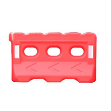 三孔水马,上宽160mm,下宽350mm,长1400mm,高800mm,进口环保塑料,7kg,红色,JCH-SM03-4-R