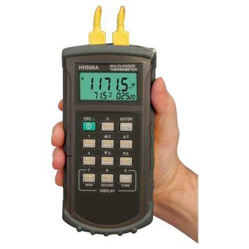 OMEGA 双输入数据记录器,含软件和RS232C电缆 HH506RA