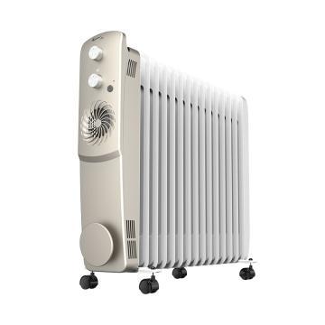 艾美特 電熱油汀,HU1526-W1,1200W/1500W/2700W,暖風檔300W,15片雙擎發熱