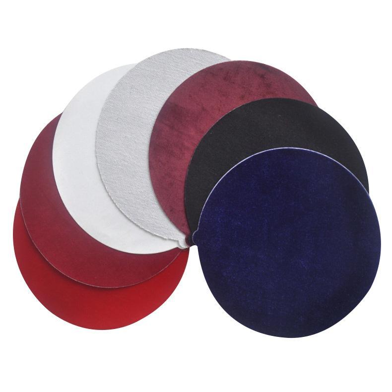 三靈拋光布,全棉金絲絨,220mm背膠,50片/小盒