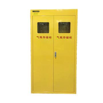 成霖 黄色气瓶柜双瓶,不带报警,900*450*1800mm,CLQ202-1