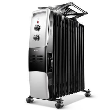 格力 电热油汀,NDY07-X6021,2100W,三档,11片加宽油汀片,9-21m2大面积取暖