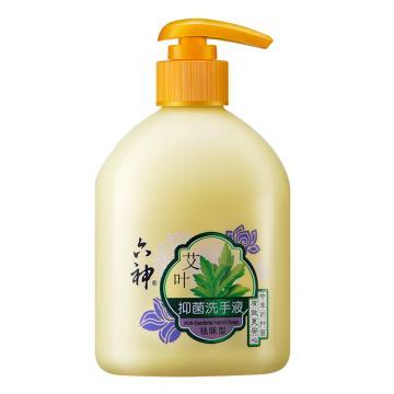 六神(LIUSHENG) 艾葉抑菌洗手液(祛味型),艾葉植物抑菌易沖洗 500ml 單位:瓶