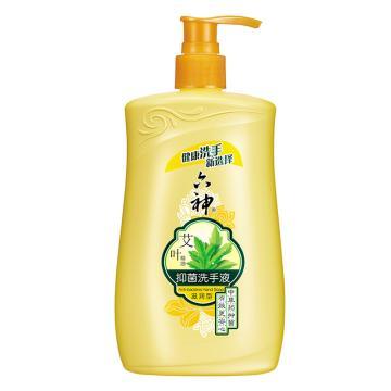 六神(LIUSHENG) 艾葉抑菌洗手液(滋潤型),艾葉植物抑菌易沖洗 500ml 單位:瓶