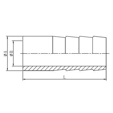 西域推荐 不锈钢304焊接皮管接头|φ19|P0204.19