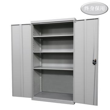 Raxwell 灰色雙開門置物柜(三層板),尺寸(長*寬*高mm):1000*500*1800,RHST0020