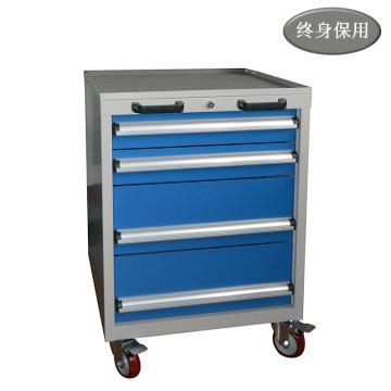 Raxwell 四抽标准可移动工具车,尺寸(长*宽*高mm): 566*600*835,RHTC0002