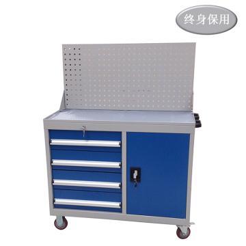 Raxwell 门抽组合工具车(带挂板),尺寸(长*宽*高mm): 1000*500*1315,RHTC0008