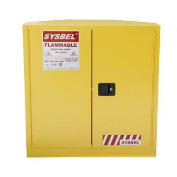 西斯贝尔SYSBEL 角落式易燃液体安全柜,FM认证,30加仑/114升,双门/手动,不含接地线,WA810300C