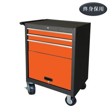 Raxwell 3抽带门可移动工具车,尺寸(长*宽*高mm):688×460×1006,RHTC0015