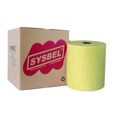 西斯贝尔SYSBEL 重型防化类吸附棉,单片40×50cm,最高吸附量120L/箱,SCR002,1卷/箱