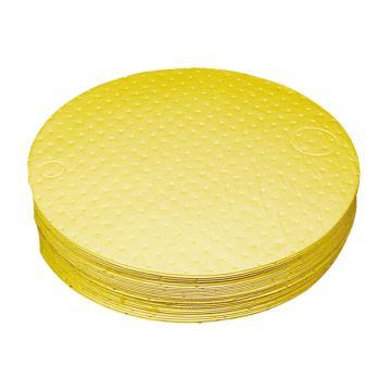 西斯贝尔SYSBEL 防化类油桶垫,Ф55cm,最高吸附量27L/箱,DCP001,25片/箱