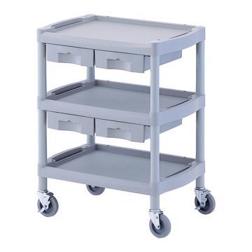 亚速旺 全塑料实验室专用台车(3层),带抽屉2个,Y101K 1台,8-8719-01