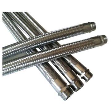 莫龙机械304不锈钢金属软管,DN20 L=200mm,1.6Mpa,软管两端为外丝(BSPT)连接
